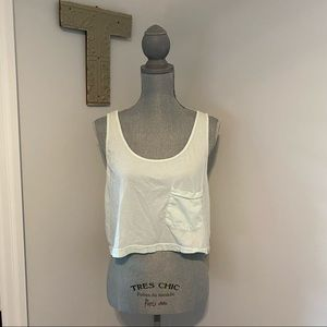 American Apparel cropped loose tank top soft mint